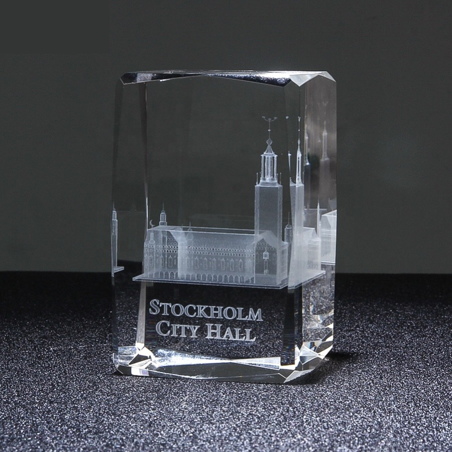 Crystal awards trophies corporate sports golf tennis football cheap personalised custom quality 3D Engraving