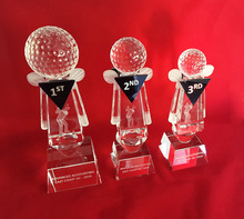 Crystal awards trophies corporate sports golf tennis football cheap personalised custom quality