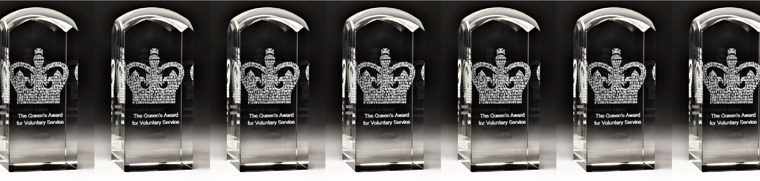 Crystal Replica Queen's Award for Voluntary Service