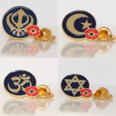 Poppy Lapel Pin Badges